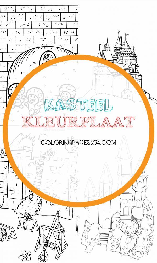kasteel kleurplaat kleurplaten234