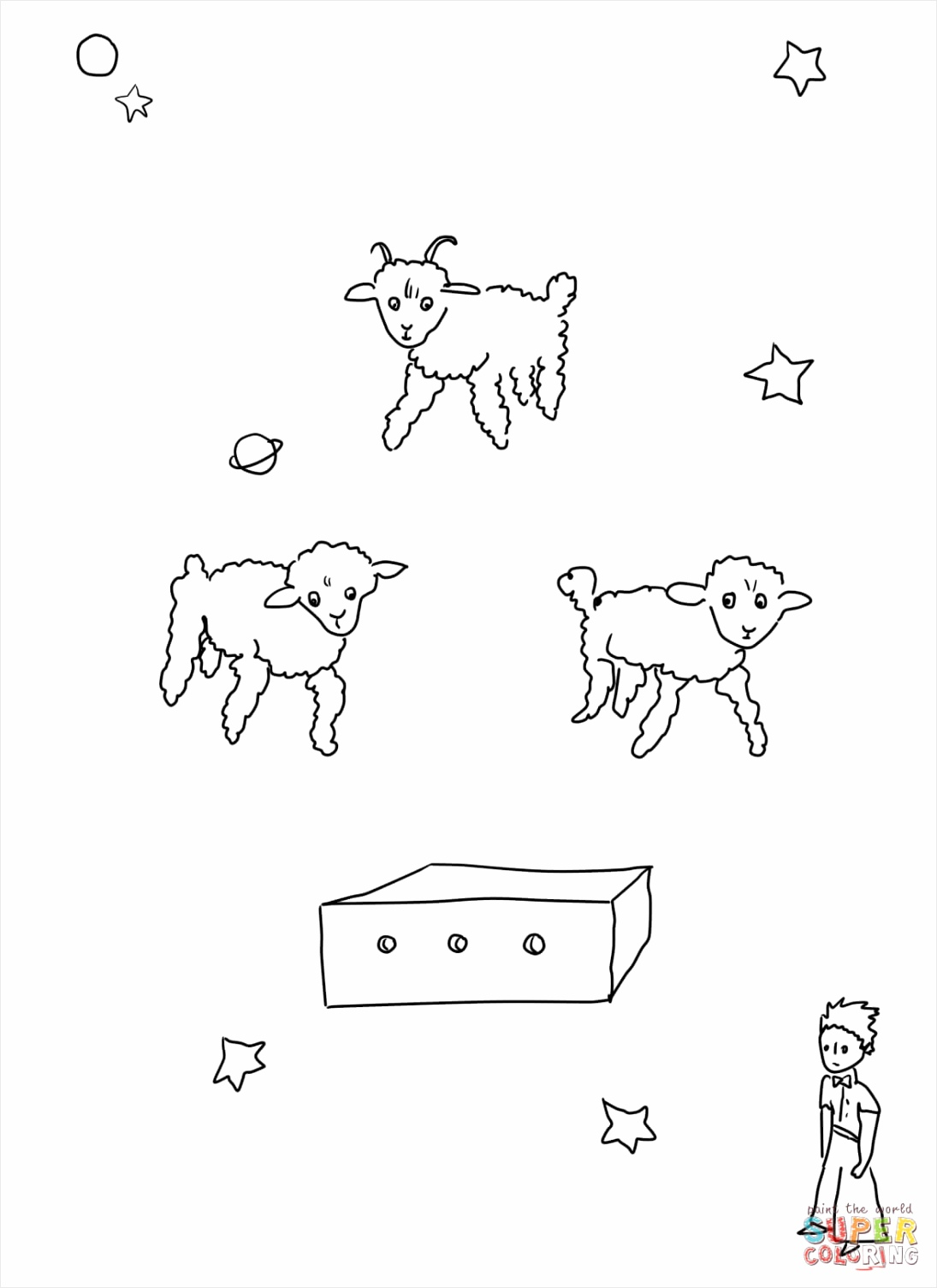 draw me a sheep coloring page taupe