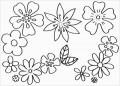 6 Ausmalbild Blumen Einhorn