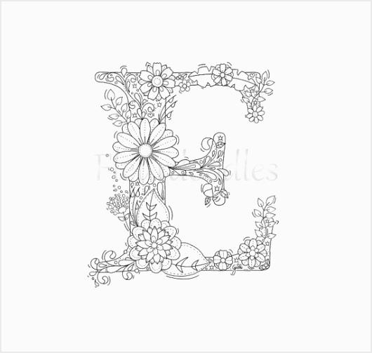 malseite zum ausdrucken buchstabe e floral von fleurdoodles D050c f3ae42f652bb2cabaf59f1 eiota