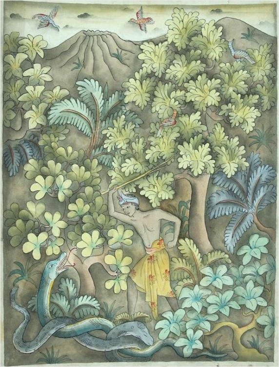 File COLLECTIE TROPENMUSEUM Een jongen in het bos een slang wil slaan TMnr 2712 1 uutyr