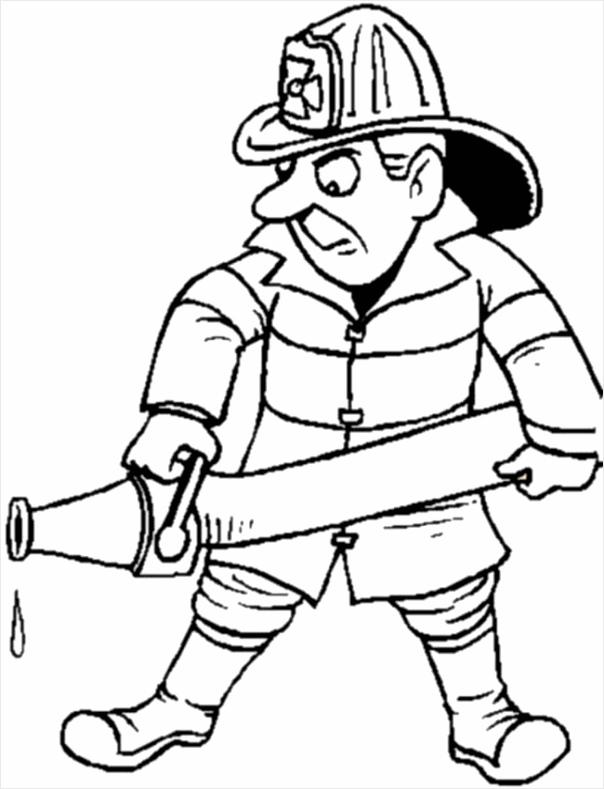 brand gevaar politie kleurplaat brandweerman spuit tuayp