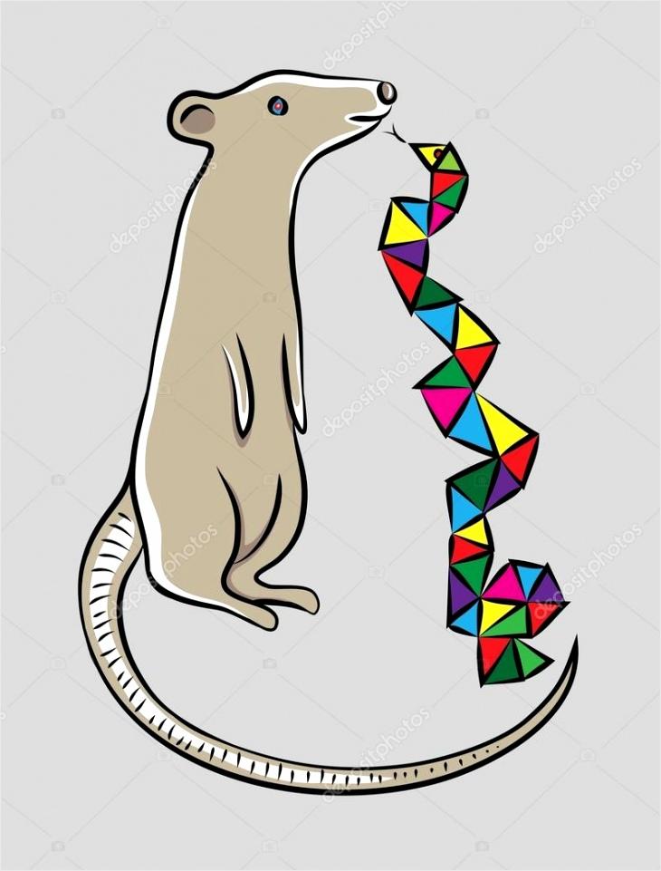 depositphotos stockillustratie muis met slang itiut