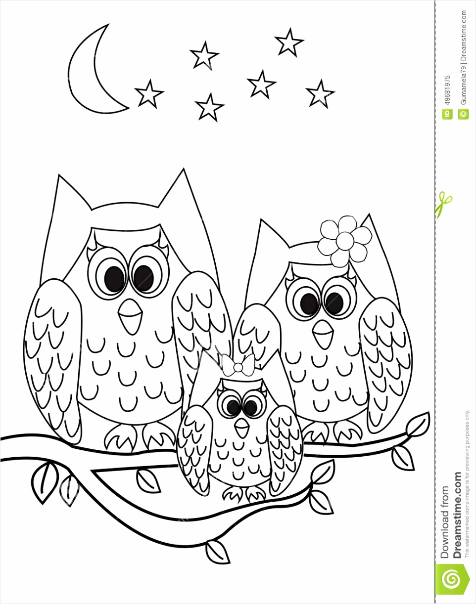 coloring page book owl cartoon illustration color black white versions useful as kids pzuyt