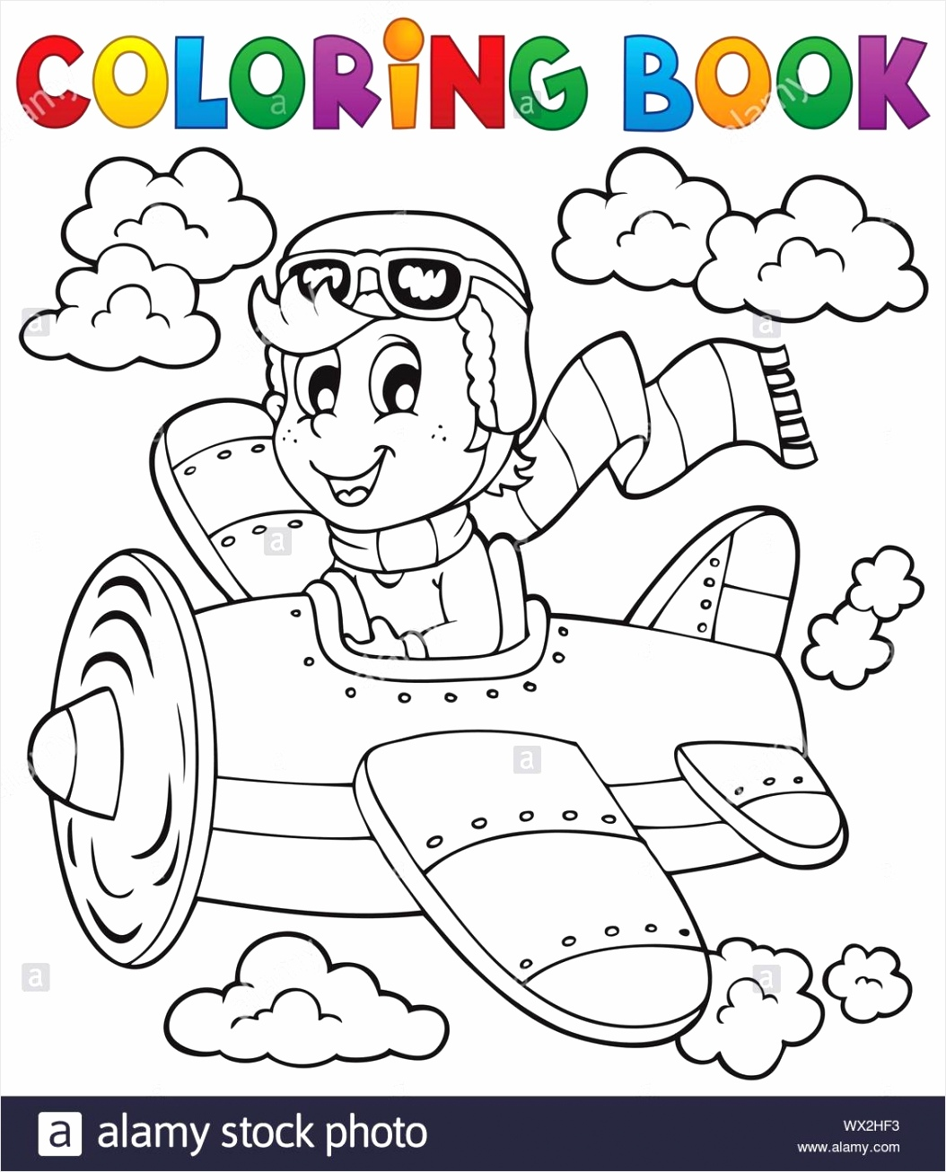 coloring book airplane theme 1 image rpero