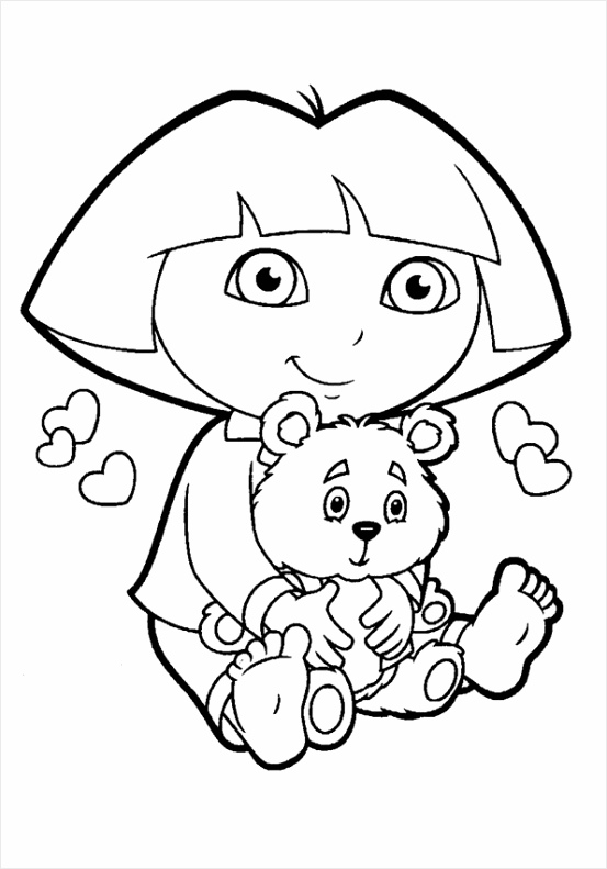 Printable Dora The Explorer Coloring Pages For Kids yauee