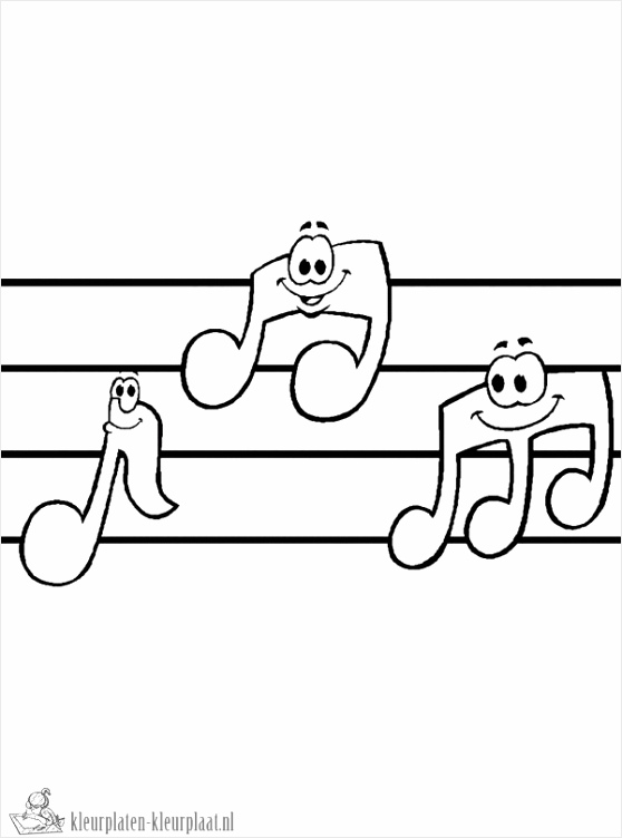muziek kleurplaat ortro