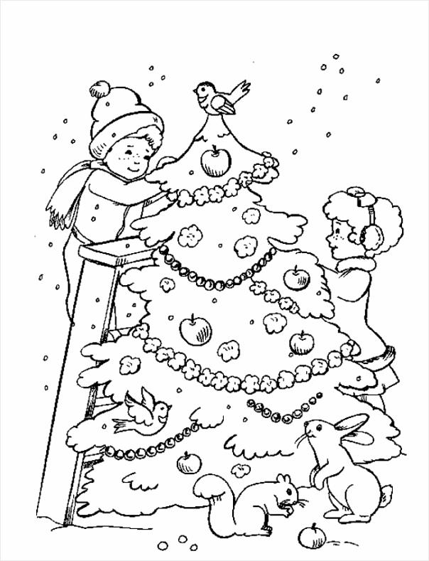 kleurplaten kerstboom kleurplaten234 kleurplaten234