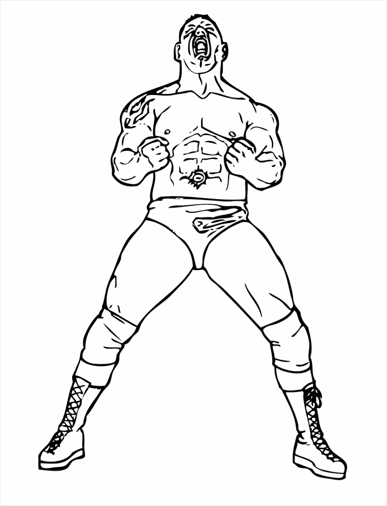 WWE Wrestlers Coloring Pages uiwuu