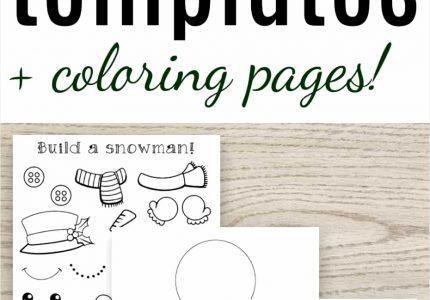 Free Printable Snowman Templates The Artisan Life Snowman To Colour In, source:natashalh.com