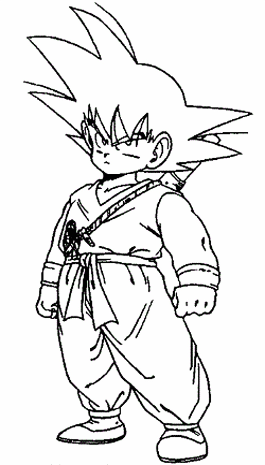dragon ball z coloring pages little goku ittty