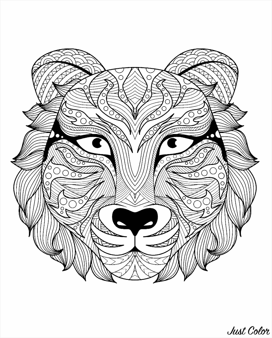 image=tigers Coloring pages for children JustColor kids tigers 1 iuikp