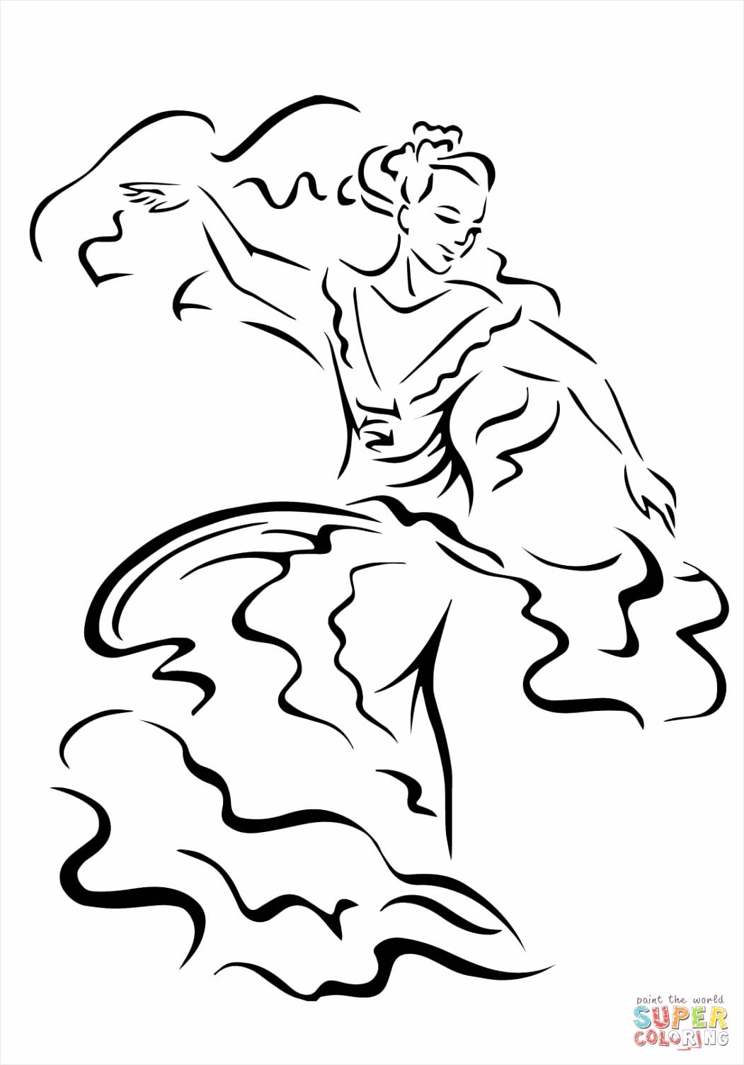 cinco de mayo dancer coloring page utirr