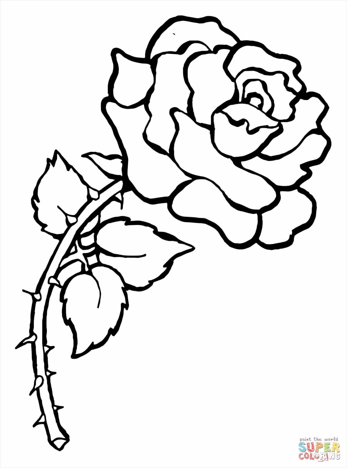 rose with thorns coloring page rreya