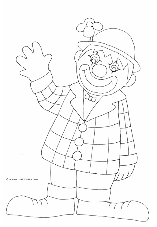 birthday coloring pages clown waving smiling tyuti