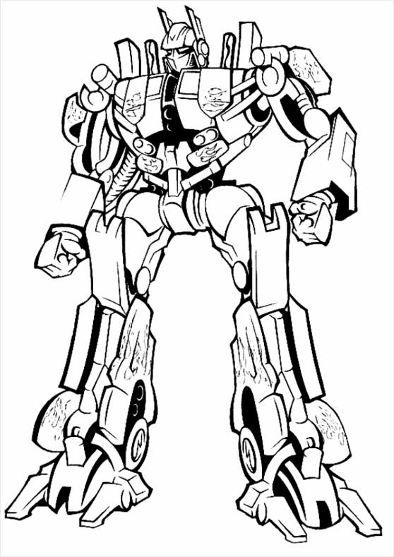 Amazing Optimus Prime in Transformers Coloring Page oattu