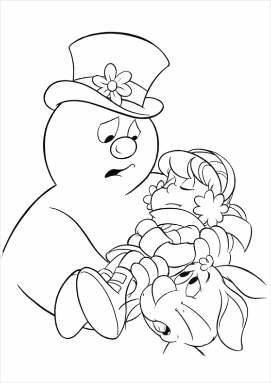 Frosty the Snowman cartoon coloring pages utuyu