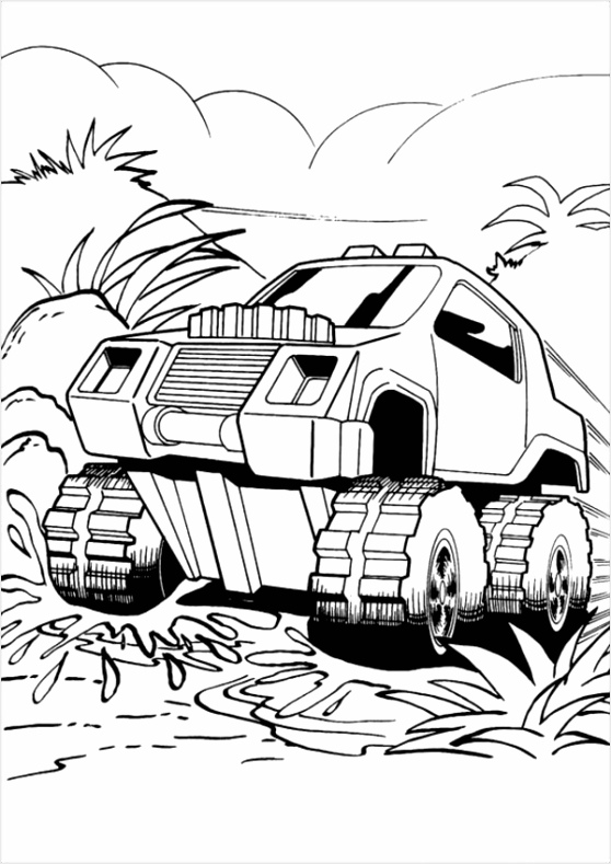 Hot Wheels Monster Truck Coloring Pages eoutp