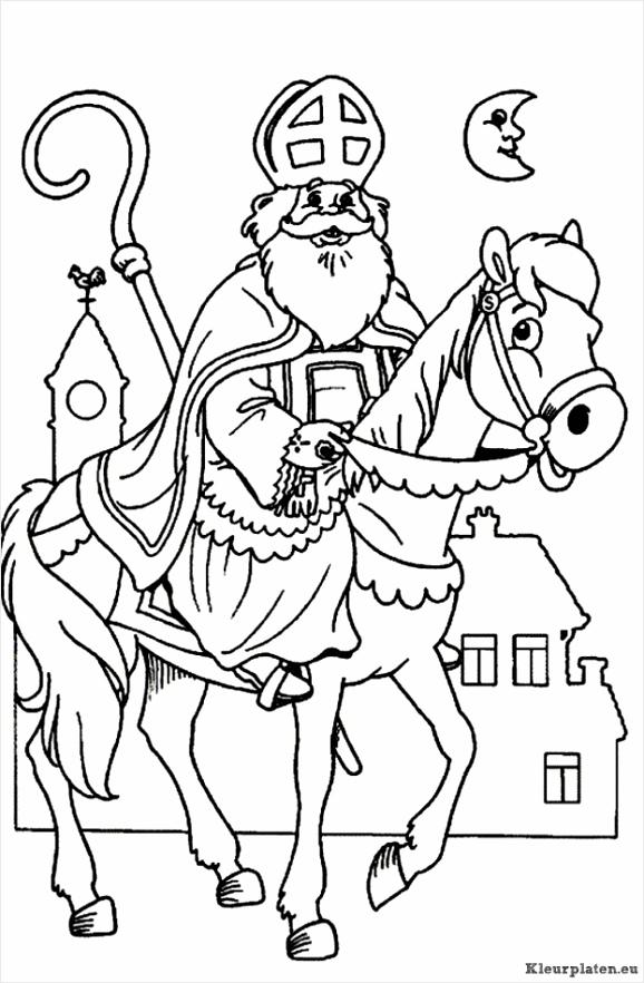 kleurplaat sinterklaas mandala coloringpages234