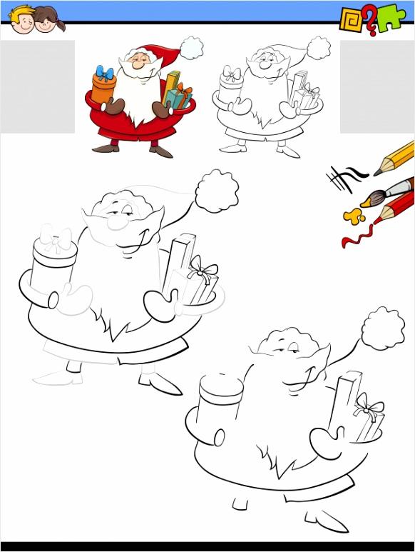 tekenen en kleuren activiteit voor kinderen met santa 9026 iupua