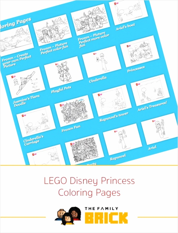 LEGO Disney Princess Coloring Pages Cover rrotr