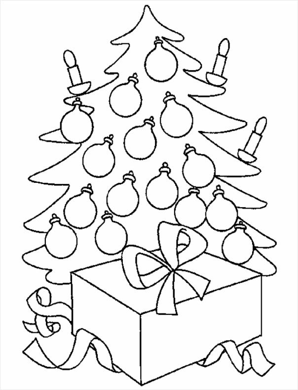 kerst kleurplaat kerstboom kleurplaten234 kleurplaten234