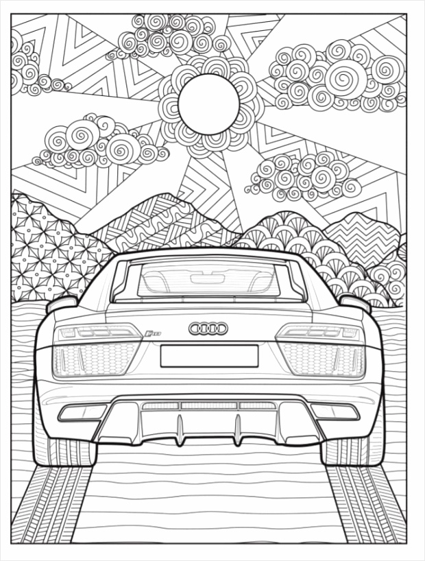 Audi Coloring Book pryti