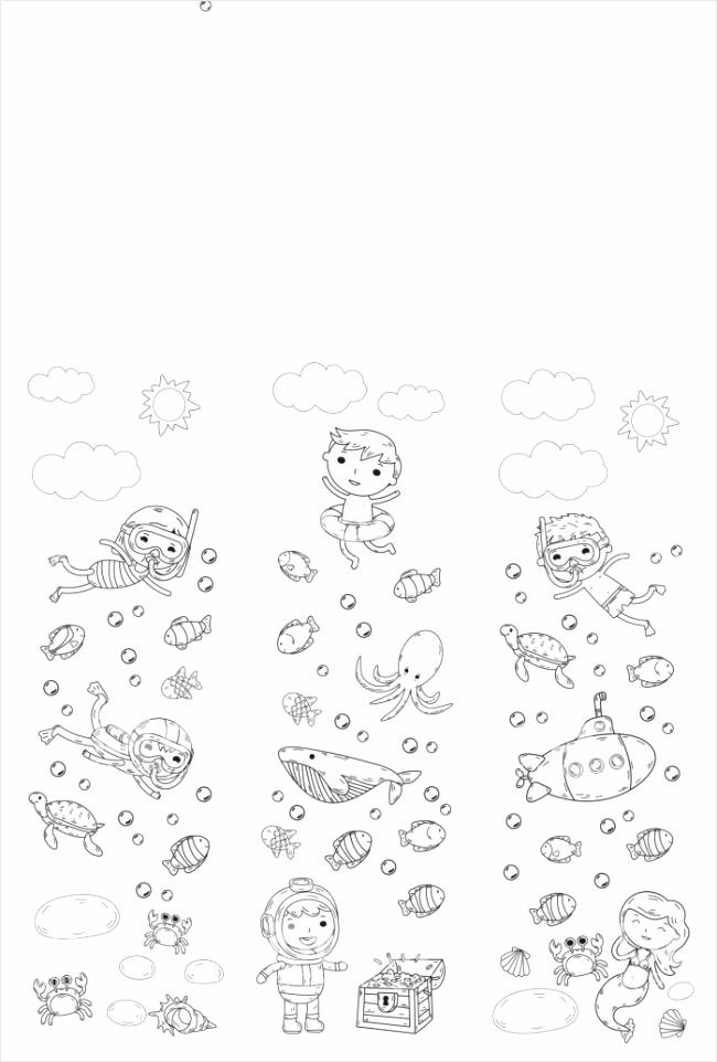 onderwater kinderen waterpark zee en oceaan avontuur zomer kinderen tekenen doodle gm reooo