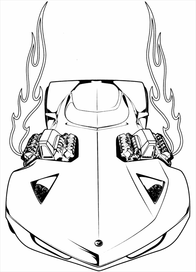 Race Car Coloring Pages to Print yatio