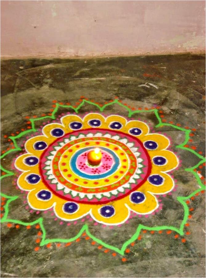 Kids Rangoli Designs by Seema 12 wioke