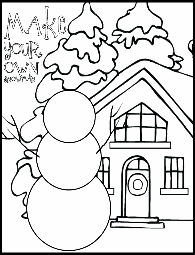 Make Your Own Snowman Coloring Page eoepy