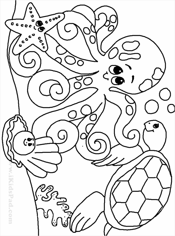 coloring pages for kids animalsten unicorn free to print sea rarwa