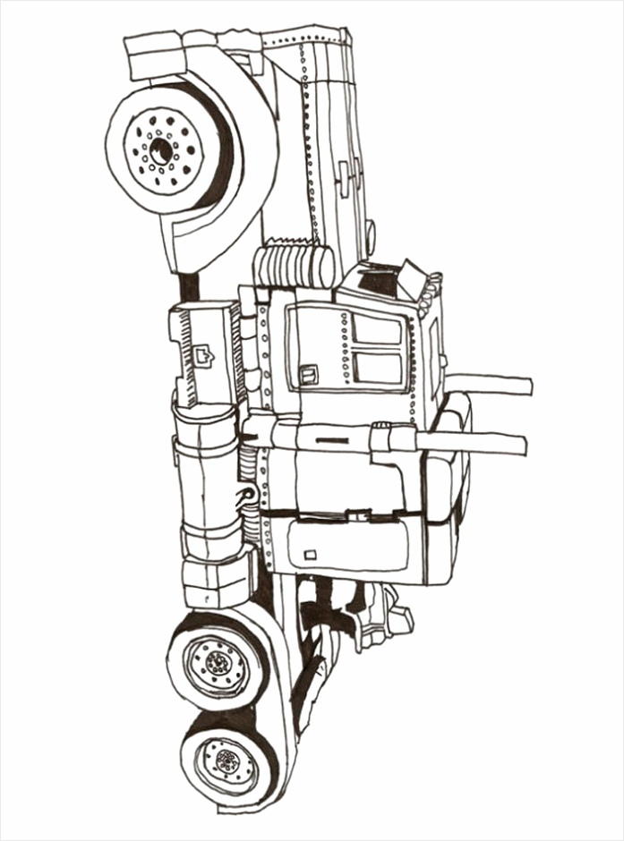 transformers optimus prime coloring pages for boys 11 eetre