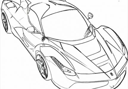 ferrari coloring pages pdf Ferrari is one of the Real Car Coloring Pages, source:pinterest.com