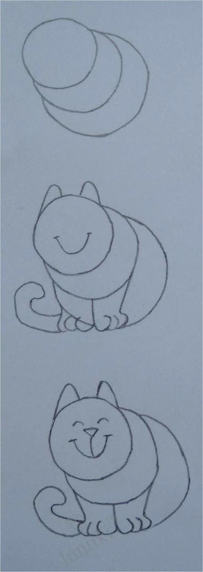 hoe simpel kan je een kat tekenen van Ploink RmBLR1t praoa