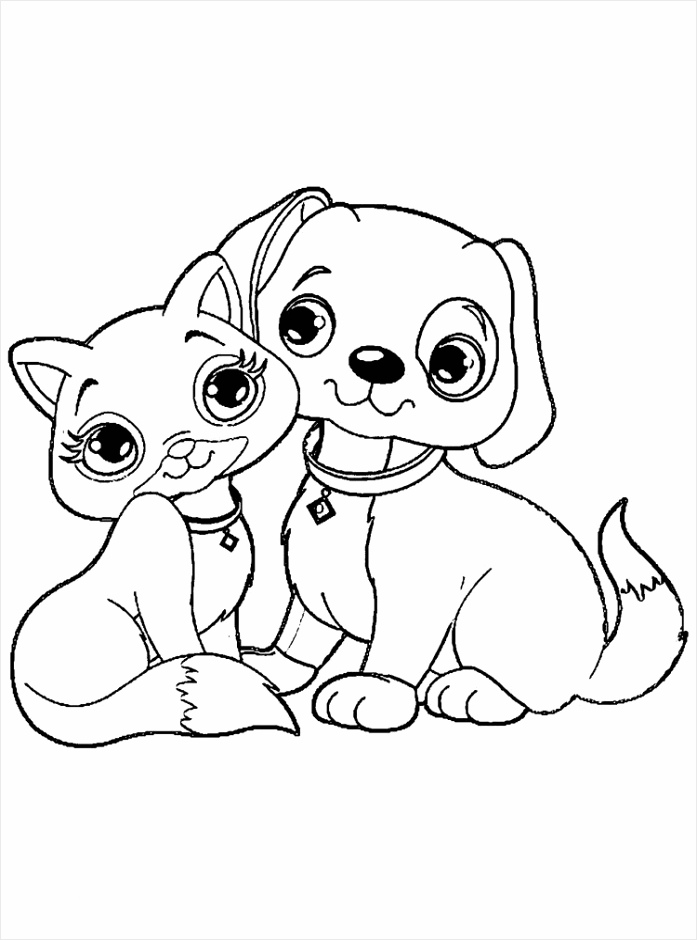 kitten coloring pages fresh kitten and puppy of kitten coloring pages erqwe