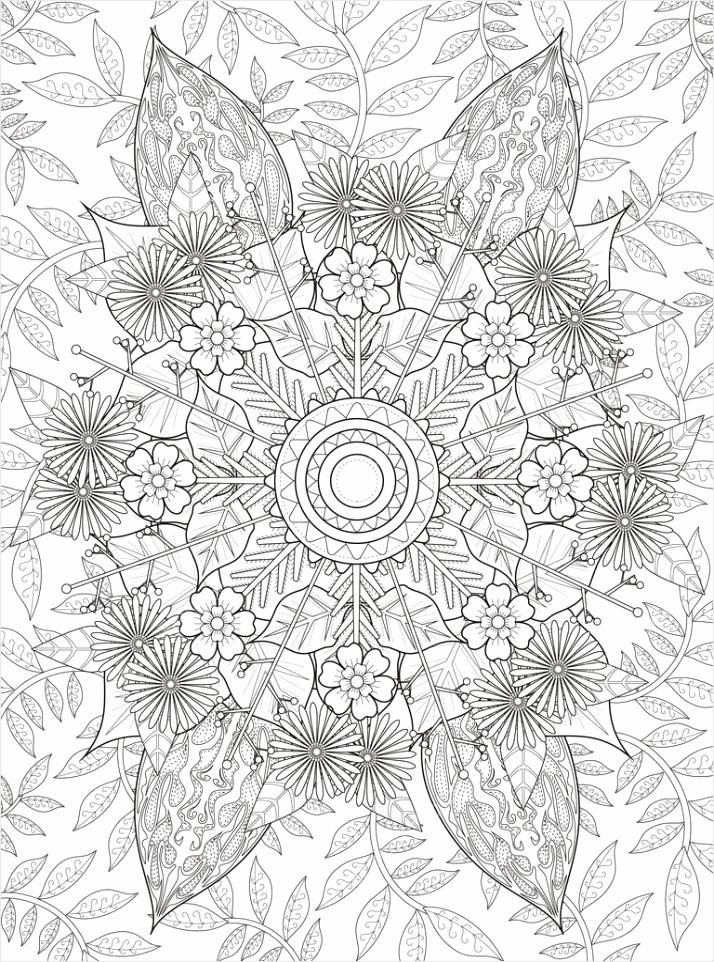depositphotos stock illustration elegant floral coloring page aojrp