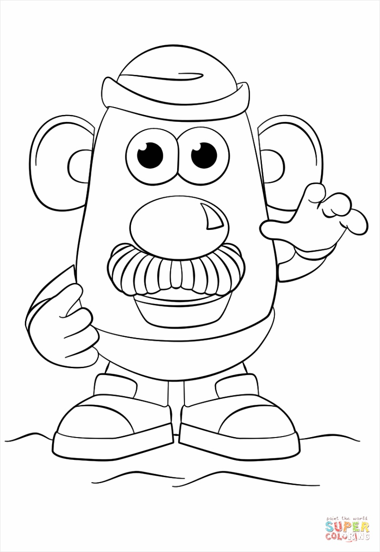mr potato head coloring page wetye