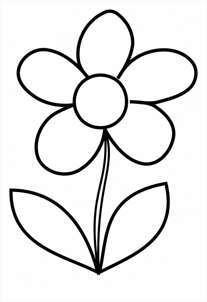 flower coloring pages easy to print free printable simple for toddlers rropt