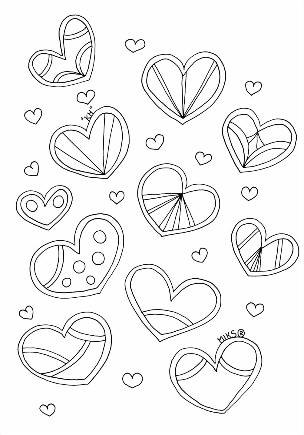 kleurplaat bloemen hartjes kleurplaten234 kleurplaten234