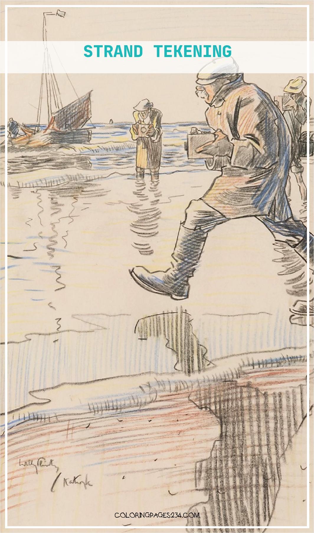 Zxntai 75454 Uef8kjeaxkwxuhouu Strand Tekening Willy Sluiter Aquarellen Te Koop 18041064