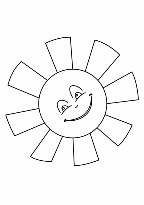 kleurplaat zon dl iauoe