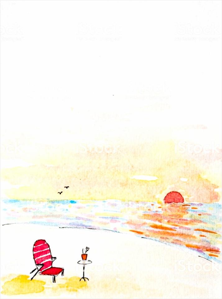 watercolored cartoon tekening van een aantal lege stoel en tafel op het strand gm ruylp