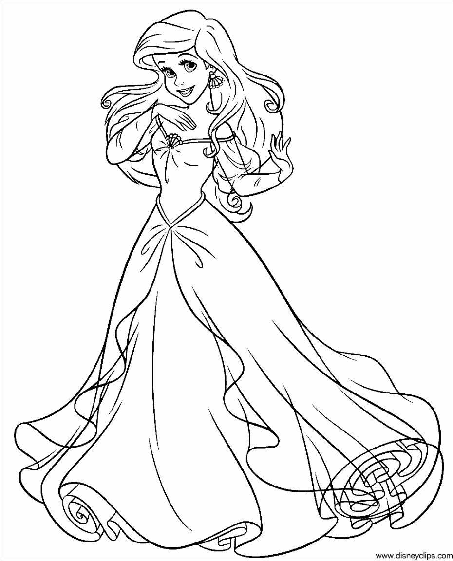 Disney Princess Ariel Coloring Pages disney princess ariel coloring pages Coloring Disney Pages Princess Ariel psouf