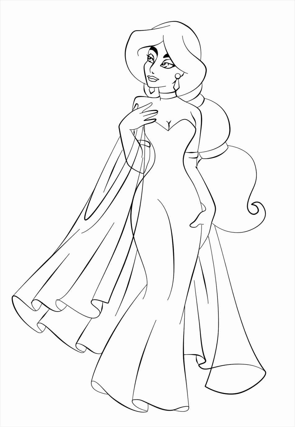 95fb079d230ad9967c5ae3bcad jasmine in wedding dress coloring page aladdin pages of 1024 1469 aetoe