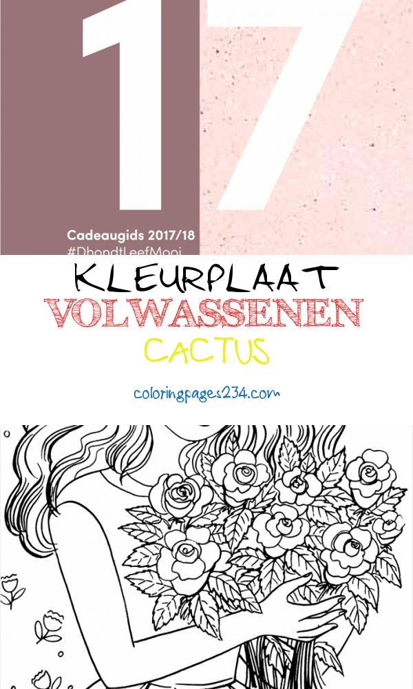 Cadeaugids 2017 kleurplaat volwassenen cactus, source:issuu.com