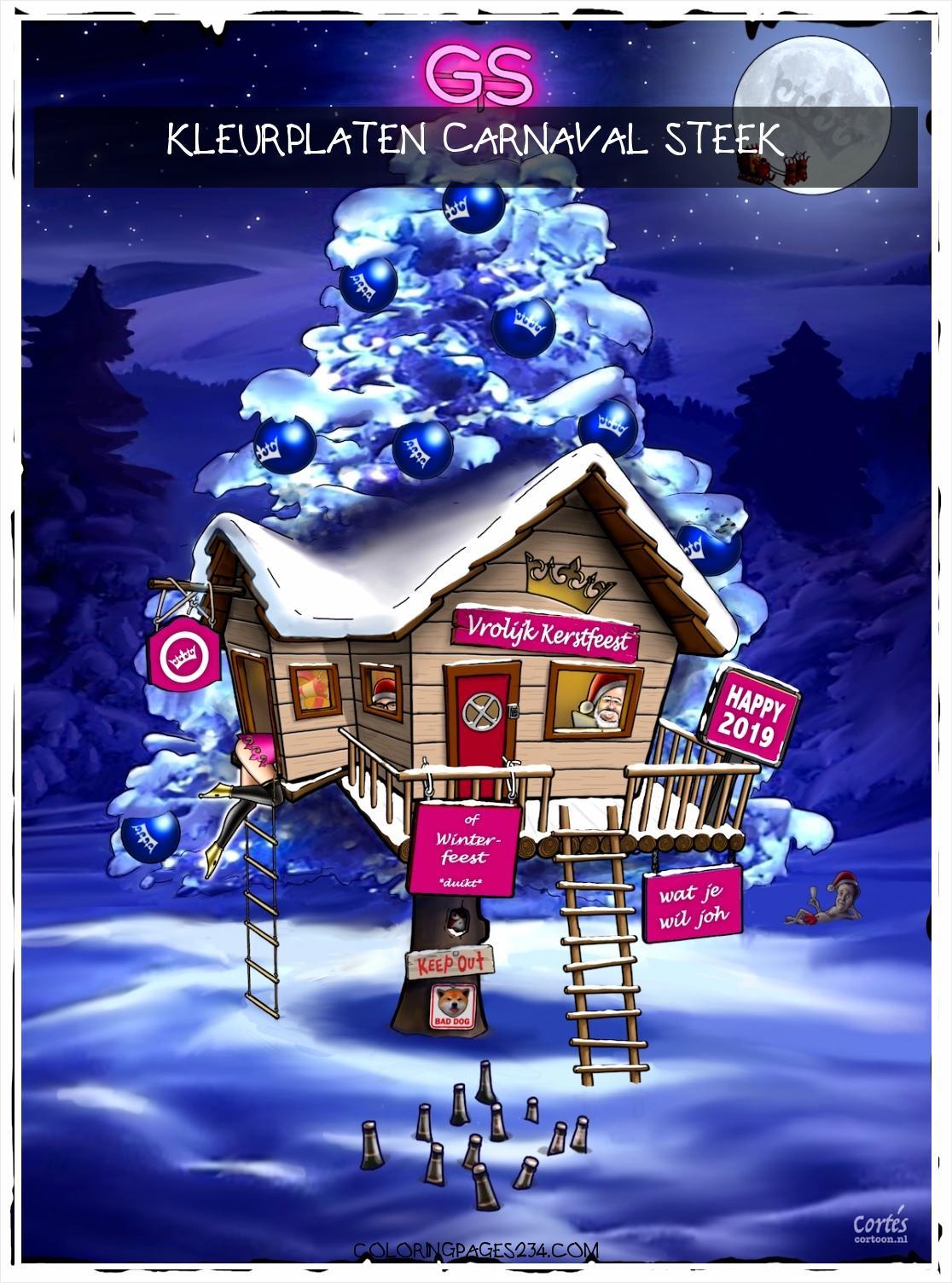 GeenStijl Vredige Kerst allen 2019 wordt een revolutiejaar kleurplaten carnaval steek, source:geenstijl.nl