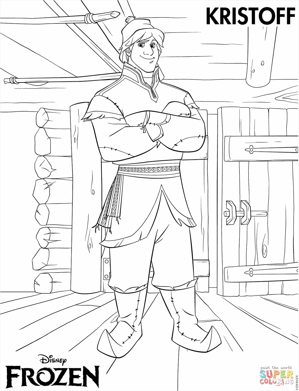 kristoff from frozening page elsa the pages free to print uwyyg