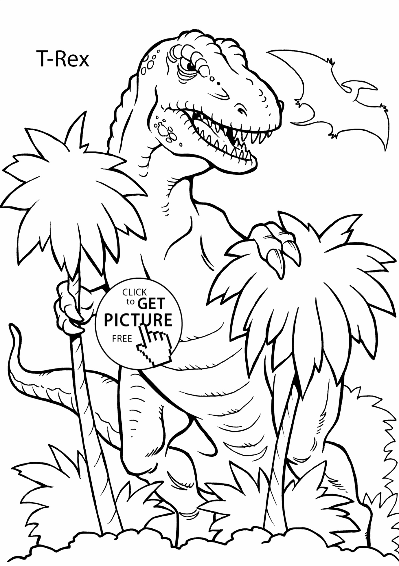 printable dinosaur coloring pages picture ideas t rex page for kids autpu