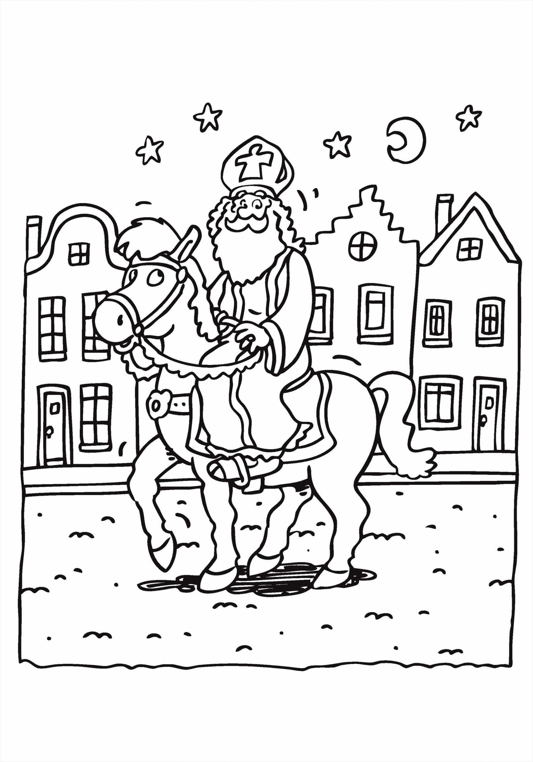 kleurplaat paard sinterklaas 6 aokiu